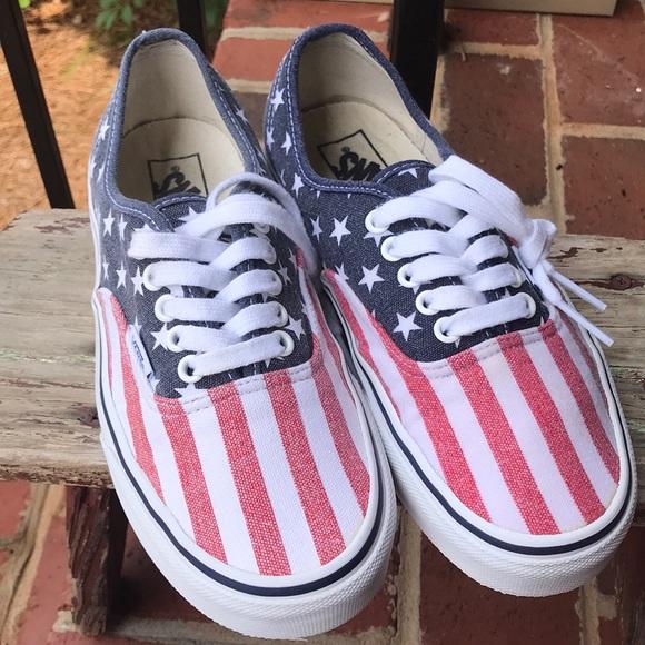 799cf5fdfec6cc Vans American Flag Van Doren Men s 7.5  Women s 9.  M 5b93ff0b7386bc5ccb99ce32